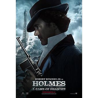 SHERLOCK HOLMES: een spel van SCHADUWEN (Holmes) poster dubbel zijdig ADVANCE (2011) originele CINEMA POSTER