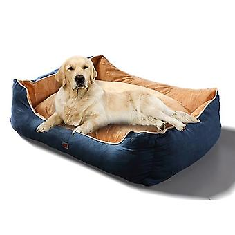 Pawz Soft Lining Washable Pet Bed Mat Cushion Blue