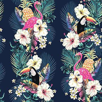 Maui Tropical Wallpaper Multi / Ink Blue Accessorize 274706
