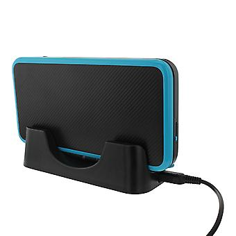 Usb charging cradle docking station stand for nintendo 2ds xl - black