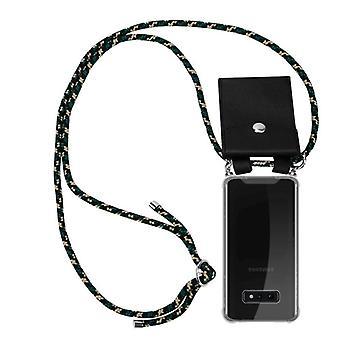 Cadorabo Handykette Hülle für Samsung Galaxy S10e Case Cover - Silikon Necklace Umhänge Hülle mit Silber Ringen - Kordel Band Schnur und abnehmbarem Etui Schutzhülle