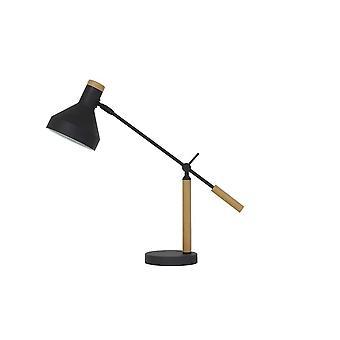 ضوء والمعيشة TIFFIN قابل للتعديل خشبية طبيعية مصباح الجدول الأسود