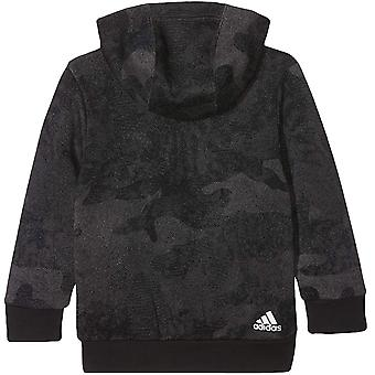 adidas Performance Boys Essentials Linear Langarm Pullover Hoodie Top - Grau