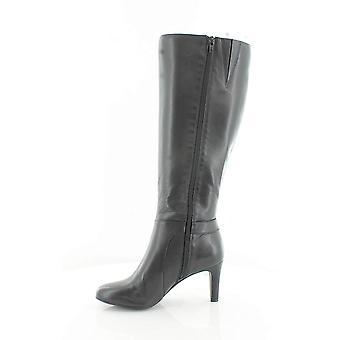 Alfani Womens Perrii Wide Calf Leather Almond Toe Knee High Fashion Boots