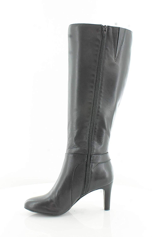 Alfani Womens Perrii szerokie cielę skóra migdałowy toe kolana High Fashion Boots Gs3OV