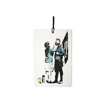 Banksy anarchico e madre auto deodorante