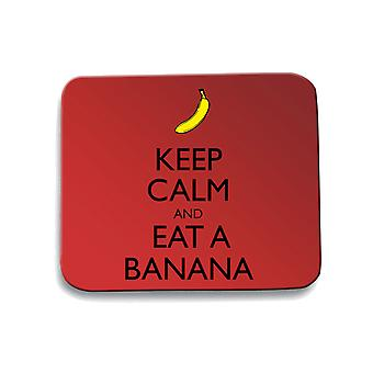 Red mouse pad pad wes0280 keep calm and eat a banana
