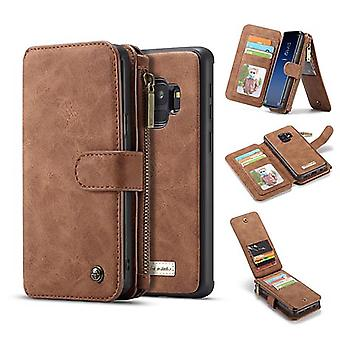 Case For Samsung Galaxy S9 Brown Multifunction Portfolio