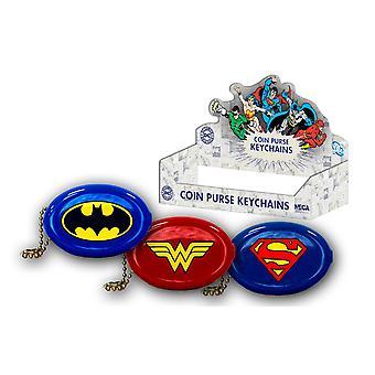 DC Comics Super Hero logo nøgleringe (sæt af 24)