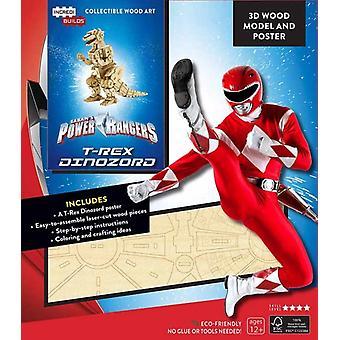 IncrediBuilds Power Rangers TRex Dinozord 3D Wood Model a