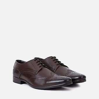 Jenson brown leather brogue shoe