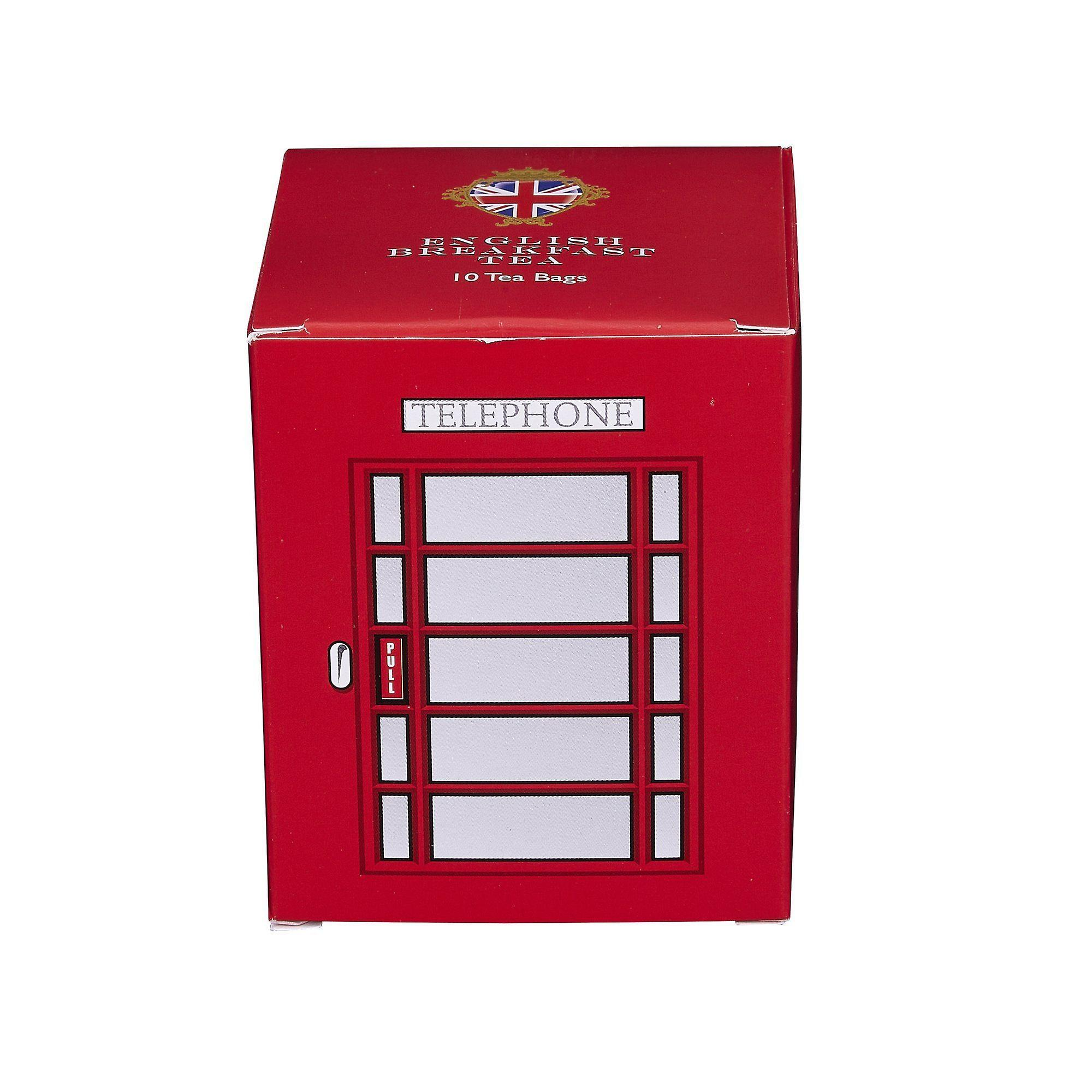 English telephone box english breakfast tea 10 teabag carton