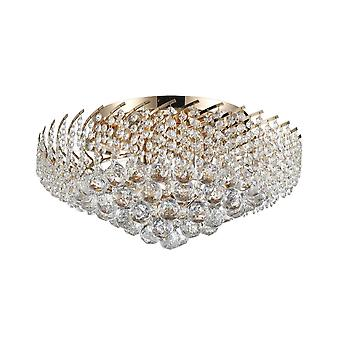 Maytoni Lighting Karolina Diamant Crystal Ceiling Lamp, Gold