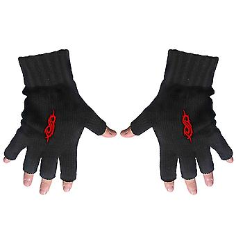 Slipknot Gloves Fingerless Tribal S Band Logo new Official Black