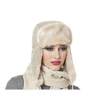 Womens Faux bont Trim Trapper warme Winter thermische Hat Kate Oatmeal