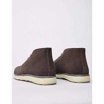 Amazon Brand - find. Men's Leather Ankle Length Chukka Boots Grey), US 10