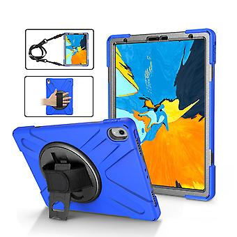 Dark Blue Shoulder & Hand-strap Armor For iPad Pro 11 Inch (2018) Case