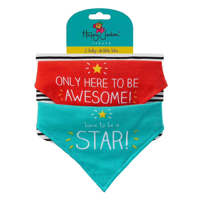Født Star / Awesome - Baby Bibs av glade Jackson
