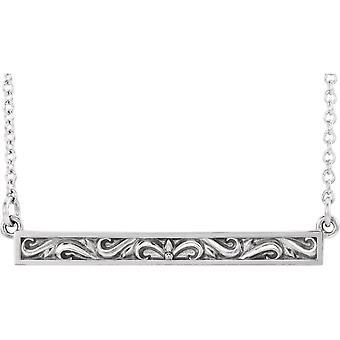 925 sterling sølv polert rullebar halskjede smykker gaver til kvinner - 2,5 gram