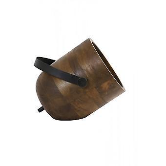 Lâmpada de mesa leve e viva 24x20x23cm Rehan Wood Preto