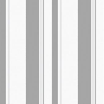 Sienna Stripe Fond d'écran blanc / Rasch gris 304909