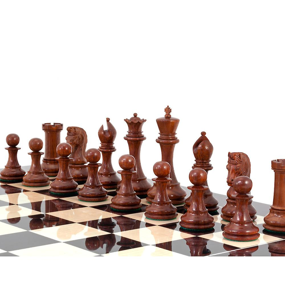 Eminence Black and Rosewood Grand Chess Set