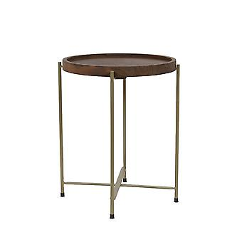 Light & Living Side Table 45x52cm Salitre Wood-Bronze