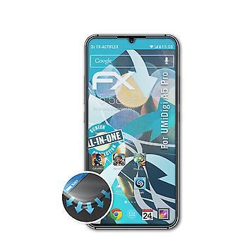 atFoliX 3x Écran protecteur compatible avec UMiDigi A5 Pro Protecteur d'écran clair&flexible