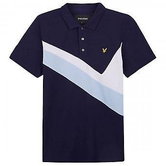 Lyle & Scott Archive Panel Polo Shirt Navy SP1210V