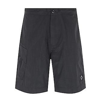 MA.Strum NT Jet Black Nylon Shorts