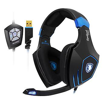 SADES Spellond Pro Gaming Headphones Bongiovi Acoustics Headset Headphones with Microphone