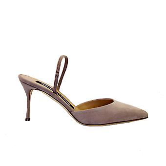 Sergio Rossi A73273mviv011105755 Women's Pink Suede Sandals