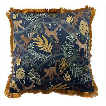 Furn Monkey Forest Feather Cushion