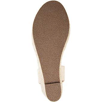 Brinley Co Womens ABRIAL-BLK-065 Fabric Cap Toe Casual Espadrille Sandals