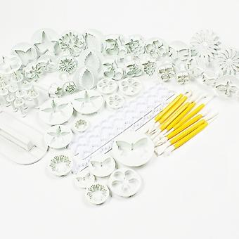 44 Pieces Cake/cookie Decorating Sugarcraft Cutters Smoothers & Plungers - Flower Leaf Shapes