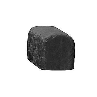 Grande dimensione nero schiacciato velluto braccio cap sedia copricopertura protettore Slipcover divano