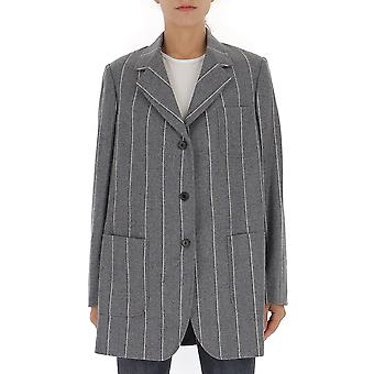 Thom Browne Fbc500a05019035 Women's Grey Wool Blazer