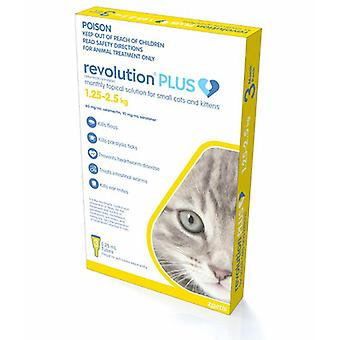 Revolution Plus Flea, Worm And Tick Prevention For Small Cats And Kittens 2.8-5.5 lbs (1.25-2.5 kg), Gold 3 Pack
