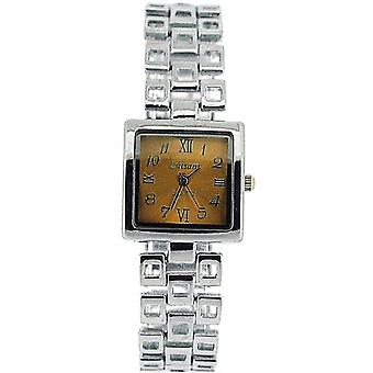 The Olivia Collection Ladies Square Goldtone Dial Armband Strap Dress Watch COS13