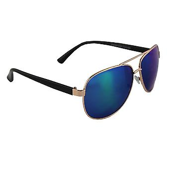 Solglasögon Pilot Polariserande Glas - Guld/Blå/Mångfärgad med gratis brillenkokerS308_5