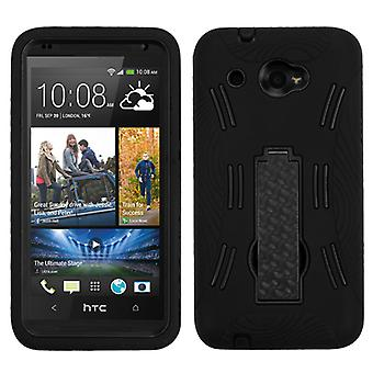 ASMYNA Symbiosis Case with Stand for HTC Desire 601 - Black/Black