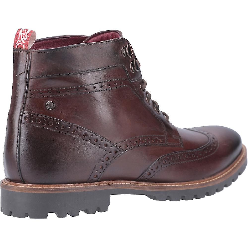 Base London menns Bower vasket blonder opp Broge Ankel Boots