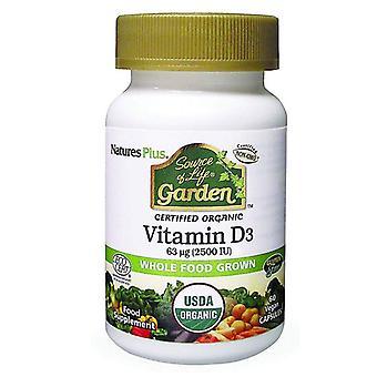 Nature's Plus Fuente de la Vida Jardín Orgánico Vitamina D3 2500iu VCaps 60 (30728)