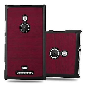 Cadorabo case for Nokia Lumia 925 - hard case phone cover in vintage wood optics - cover of bumper back case cover