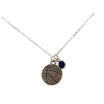 قلادة كرة السلة قلادة لاعب، مدرب، الفضة أو الذهب مطلي SAPHIR