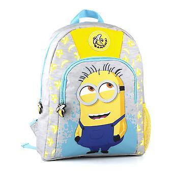 Minions 2 Character Banana Print Kid's Children's Backpack Rucksack
