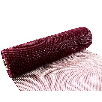 Burgundy 25cm x 9.1m Deco Mesh Roll for Wreath Making, Floristry & Crafts