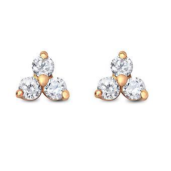 Vauvan korvakorut Britney, 18K kulta ja timantit - Keltainen Kulta