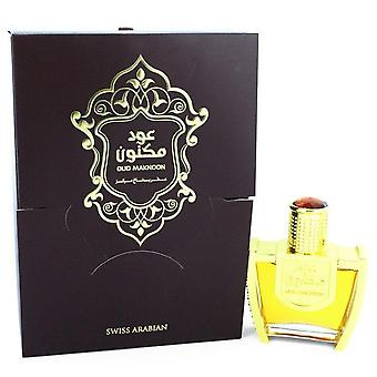 Oud Maknoon Eau De Parfum Spray (Unisex) By Swiss Arabian 3.4 oz Eau De Parfum Spray