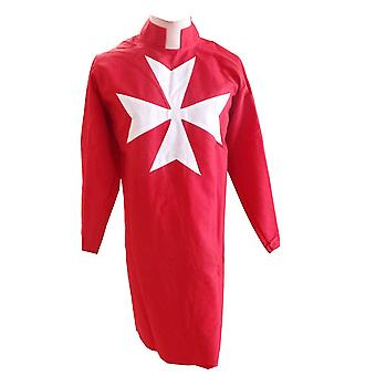 Masonic knight malta tunic red with (8 pointed) maltese cross